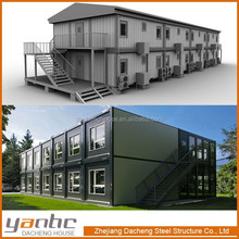 Fast Installation Prefab container housing for hotel, office, dormitary, school, motel, etc.