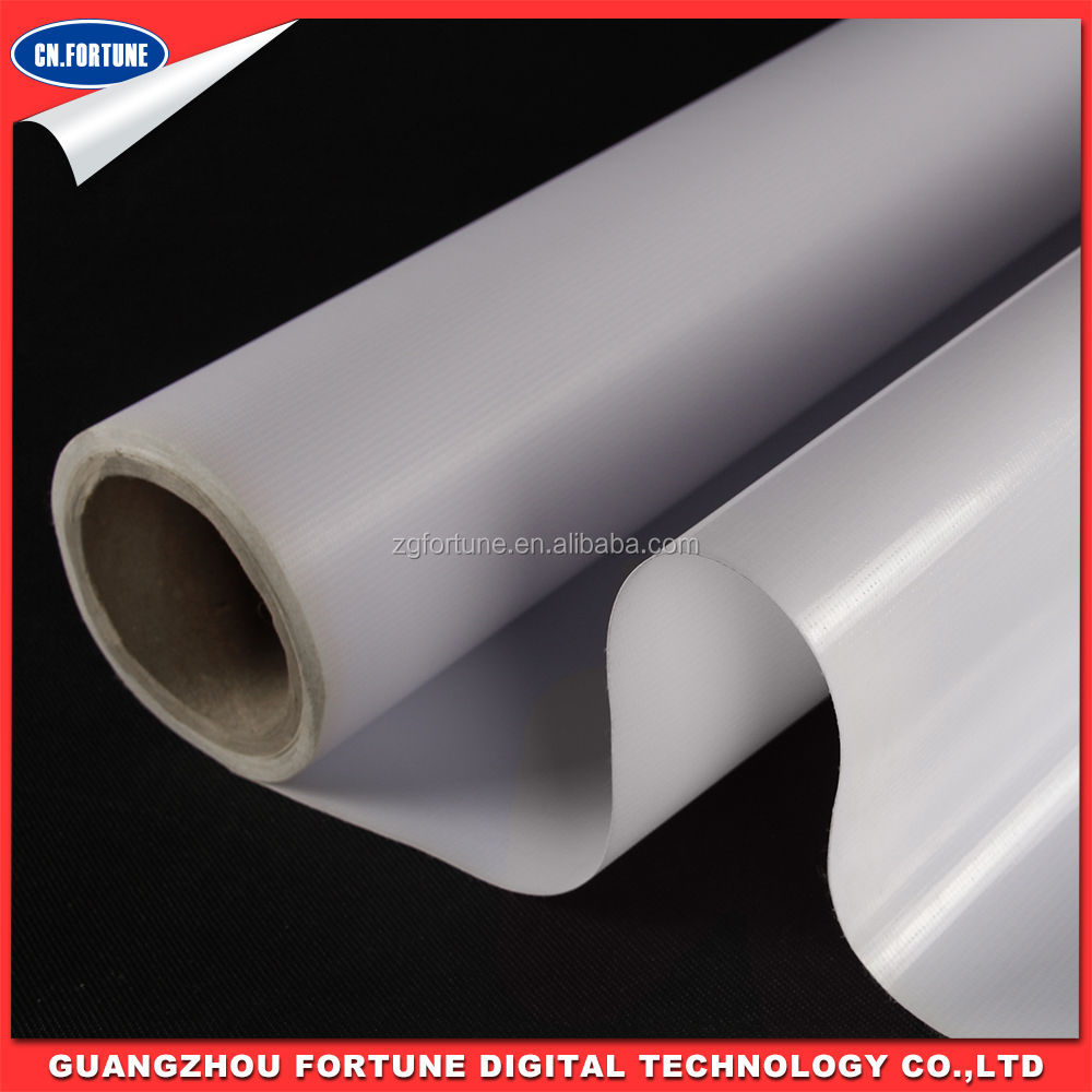 Manufacturer glossy Outdoor Printable Media roll material advertising flex banner frontlit flex banner