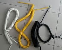 High quality flexible rj45 pvc spiral cable PUR insulated flexible rj45 pvc spiral cable