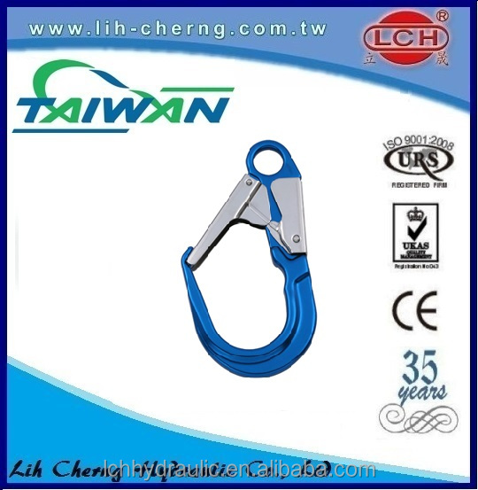 8mm aluminum carabiner for climbing with 18kn High Quality Swivel Eye Carabiner Snap Hook