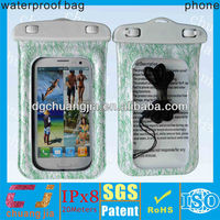 soft pvc smart phone waterproof cover for galaxy s3 with IPX8 certificate for underwater swimming