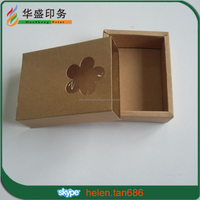 Cheaper Small custom brown craft paper soap drawer packing box