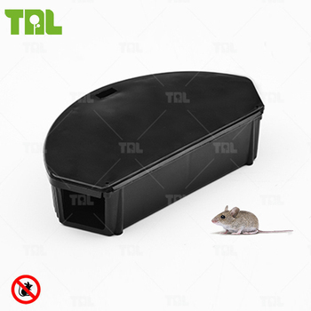 Black NoN-TOXIC Rodent Bait Station Heavy Duty Rodent With Snap Trap(TLMBS0202)