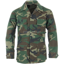 Military Army Combat Polyester/Cotton Woodland Camouflage BDU Uniform