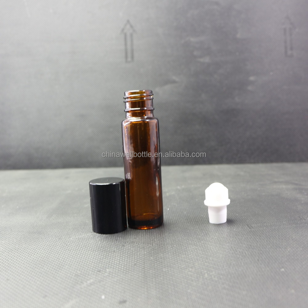 amber clear glass deodorant aromatherapy roller bottle with OEM process Roller-188RI