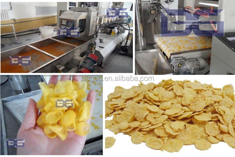 Crispy corn flaker maker machine 200-400kg/h