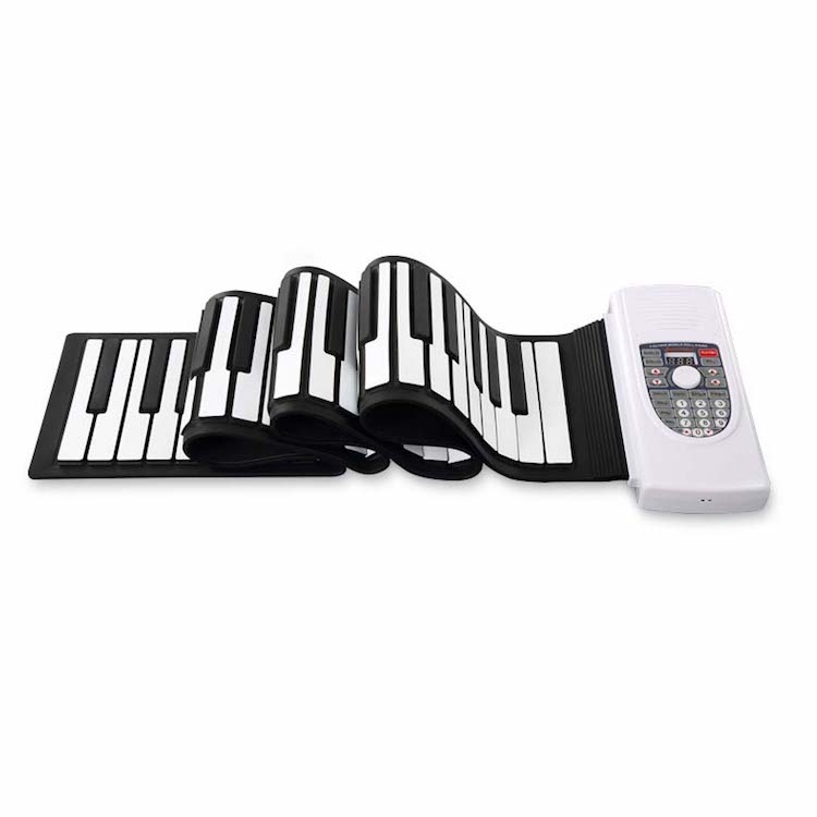 Portable Roll Up Piano 88 Keys Electronic Piano Keyboard Silicon Flexible Built in Speaker