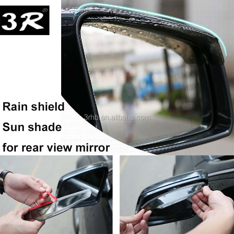 2x Clear Rear View Car Side Mirror Sun Shade Eyebrow Rain Shield Water Guard SUV