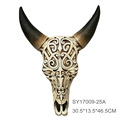 Resin vintage nightclub/pub/pop/night club wall decor-hollowed-out cow skull