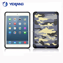 New Product PC+TPU Hybrid Case For Ipad Mini Camouflage Case