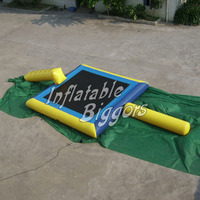 Inflatable trampoline water game and inflatable water trampoline buncer