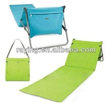 2016 New Folding camping mat picnic mat picnic blanket with backrest beach bag