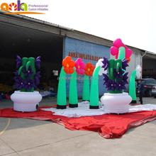 Custom made oxford nylon giant inflatable flower chain with cheap price