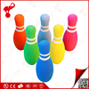 China factory wholesale sport NBR foam 6 pieces kids mini bowling pins and ball set
