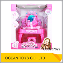 Fashion girl dressing table and plastic mirror makeup toy OC0237629