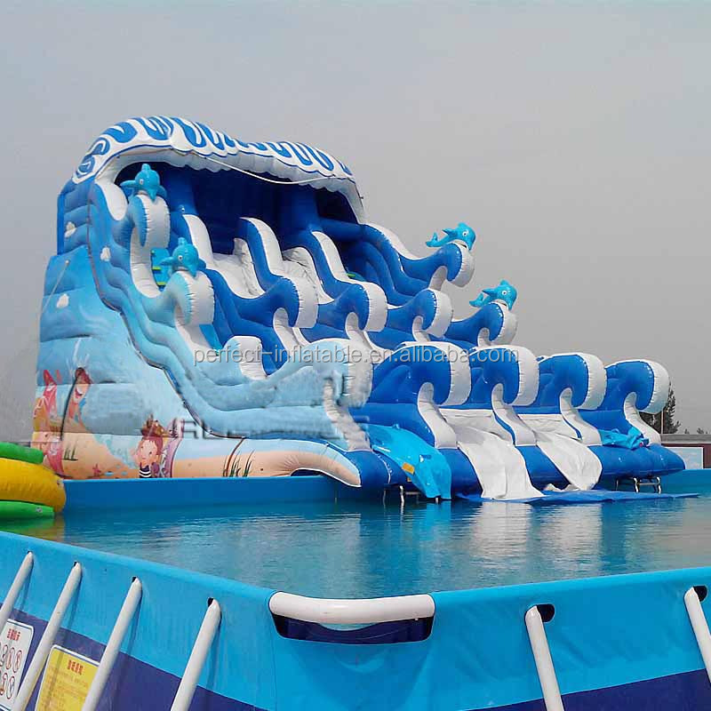 Giant and wave Inflatable water slides for adult, inflatable water park