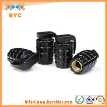 BYC Brand Wholesale 4pcs Black Car Tire Valve Caps Auto Accessories