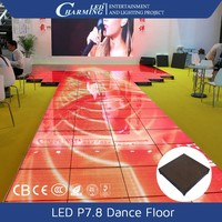 2015 hot sale!!! portable led video club floor interactive design waterproof IP65 rgb dance floor for disco