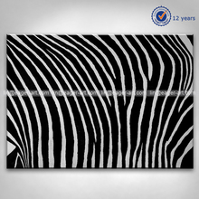 Handmade Abstract Zebra Wall Art Oil Painting On Canvas For Home Decoration