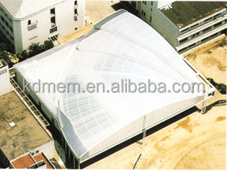 ETFE tensile membrane structure gymnasium bleacher waterproof durability canopy roof