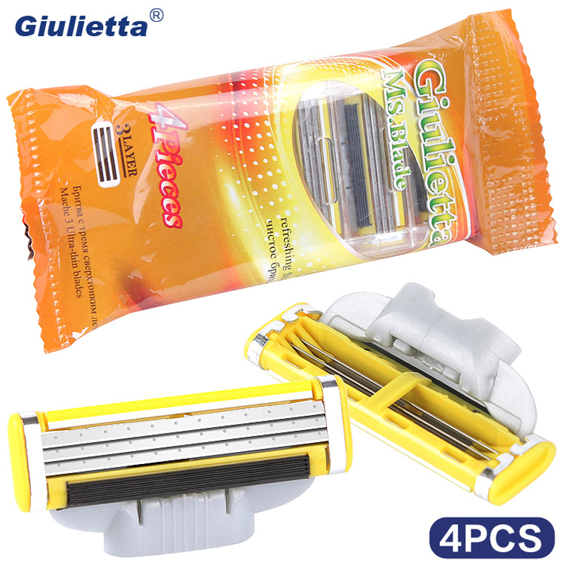 Giulietta Brand Razor Blade For Men 4 Pieces Stainless Steel Blade Affordable Material D3-HH