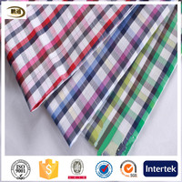 CVC 55/45 yarn dyed checks poplin fabric for shirts,bed sheeting,blouse,dress,55% cotton 45% polyester poplin