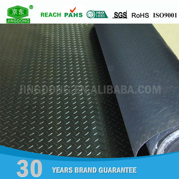 Industry vulcanized 3mm thin anti-slip fine ribbed sbr rubber sheet
