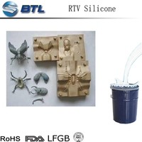 Two components liquid silicone rubber for casting