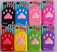 Cute pawprint Soft silicone back cover case for iphone 4 4S