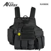 Black military molle tactical mesh hunting army vest