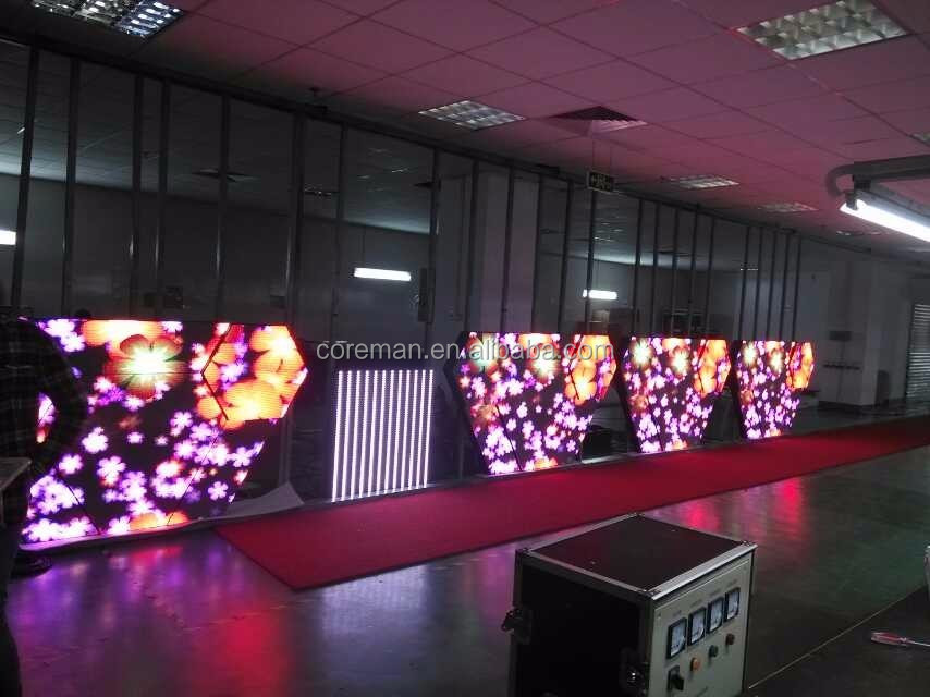 P2p2.5p3p4p5p6 indoor full color DJ led screen night bar leddisplay screen W shape