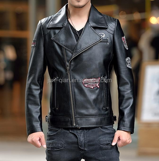 alibaba china customed logo leather jacket for men online shopping faux leather jackets