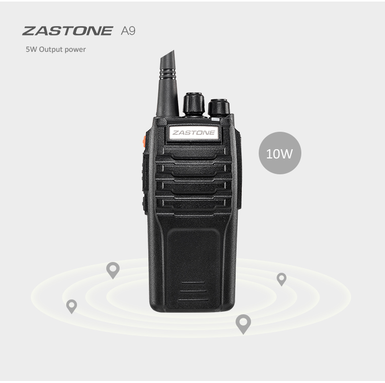 Hot Sell ZASTONE ZT-A9 UHF400-470 or VHF136-174MHz mono band 10W woki toki