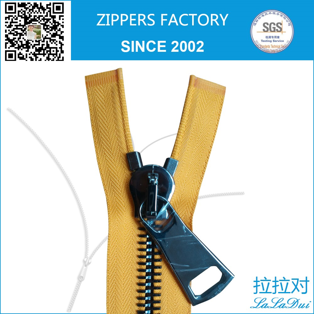 Brand stainless steel zipper