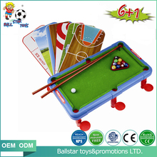 6inch Indoor mini toys pool games table billiards for kids , snooker table games set toys