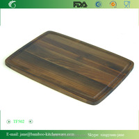 Extra Large Acacia wooden Edge Grain Prep Station Cutting Board withJuice Groove