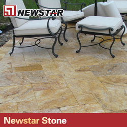 Newstar cheap travertine patio pavers for garden floor