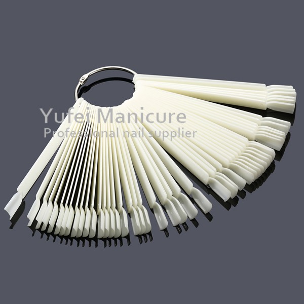Hotselling nail display tool 50 tips clear natural fan shape plastic color chart nail