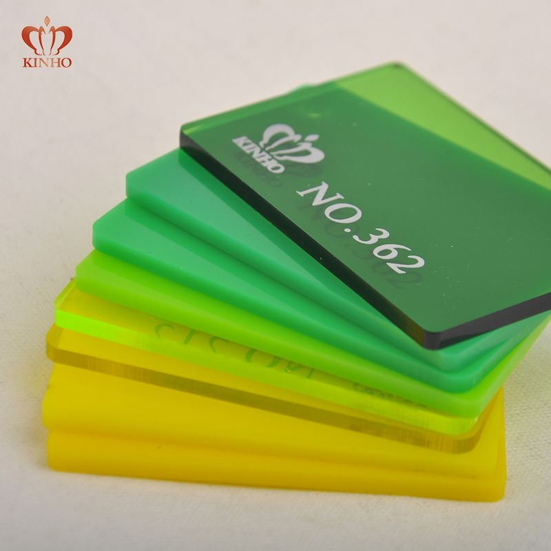 100% Recycled Eco-Friendly 10mm Cast Light Green Colored Acrylic Sheet