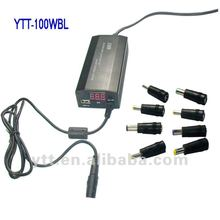 100W universal laptop Adapter With Led Display