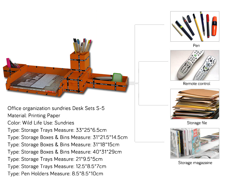 NAHAM wholesale office organization sundries Desk Sets S-5