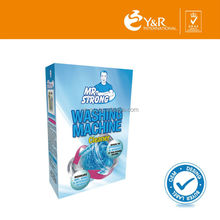 High end washing machine cleaner in plastic bag