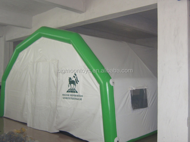 Top quality event use giant blue color fabric inflatable tent building