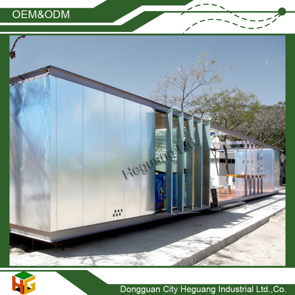 Prefab Luxury Container House for Living/Restaurant/Kiosk or Store with Good Quality and Design