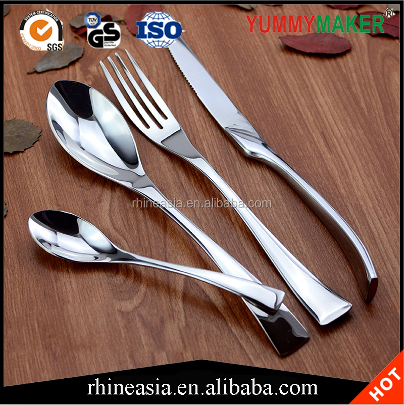 Stainless Steel Cutlery Set 18/0,18/8,18/10 Metal Mirro Polishing cutlery for hotel