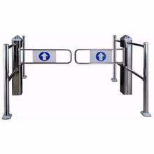 Stainless steel security barrier supermarket entrance access control turnstile manual swing gate with smart card