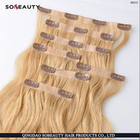 Wholesale Price Directly Factory Price Best Quality 100% Remy Human Hair 40 inch hair extensions clip in
