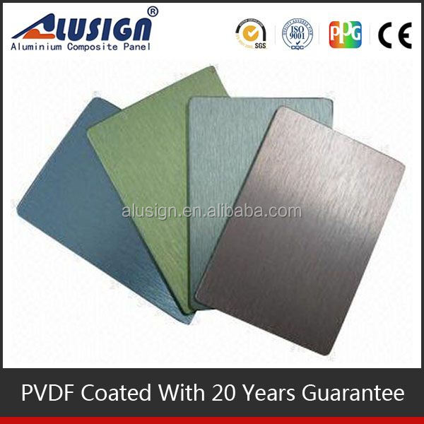Alusign famous high light Super Durable acp sheet building construction material for wall decorative