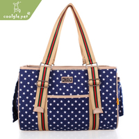 North American Style Durable Canvas Mesh Fashion Stars Pet Carrier Dog Bag
