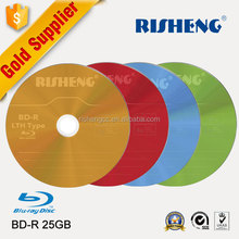 RISHENG blank BD-R 25GB 6X Wide White Inkjet Printable/wholesale blank Spindle Blu-ray Recordable Media Disc